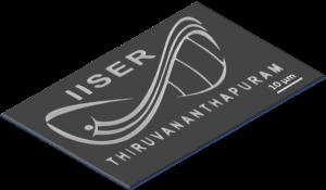 IISER TVM logo E-beam lithographed